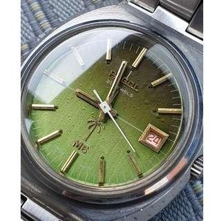 (A356) Vintage Green Dial Pagol M6 Swiss Watch