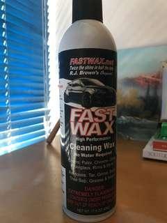 Fast wax cleaning wax 洗車