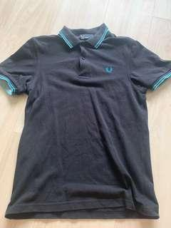 Fred Perry Black Blue Polo Tee -