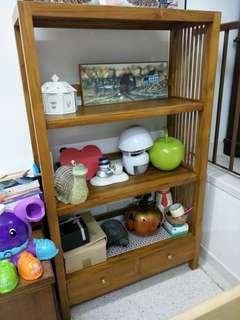 Wooden Jati Display Shelves
