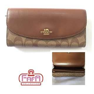 Coach Womens Boxed Slim Envelope Wallet in Signature Canvas F54022