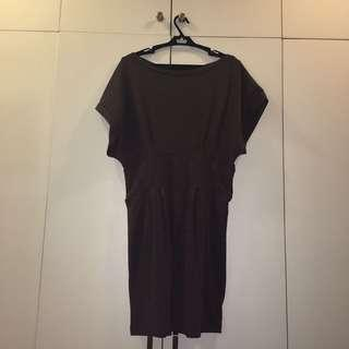 Proact Brown Cotton Dress Size S