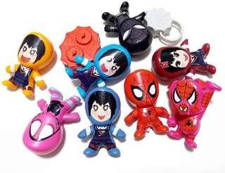 8個3元 麥當勞 蜘蛛俠玩具