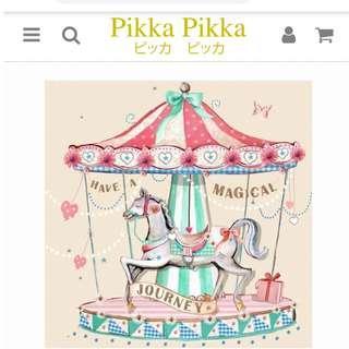 Pikka潔顏布~女孩系列_旋轉木馬Carousel--日本15年銷售第一洗臉布--