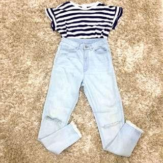 uniqlo ripped jeans