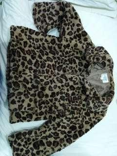 Fur winter leopard teddy coat