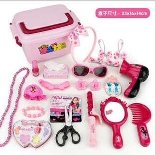 Girl pretend play make up toy sets