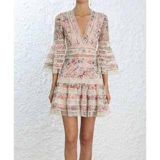Zimmermann Inspired Lovelorn Floral Flutter Dress (RRP $795)