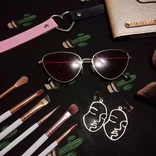 Metro Sunnies Red Cat Eye Retro Sunglasses