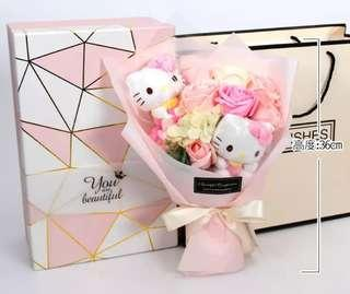 Hello Kitty Roses Bouquet / Valentine Day / Proposal / Anniversary / Farewell