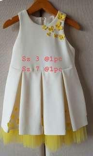 baby bloom white yellow dress