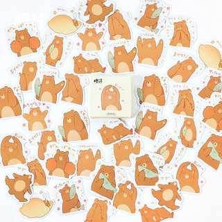 🚚 45pcs stickers (Brown Bear)