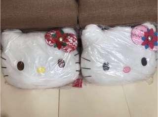 🈹全新 Hello Kitty Cushion 靠墊2個$60 (50x35cm)