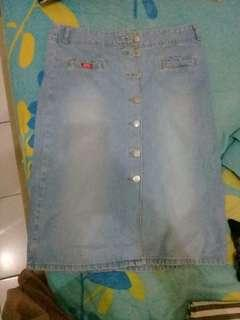 ROK jeans span murah