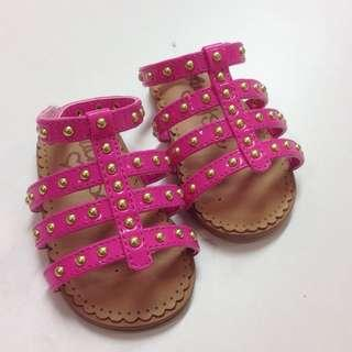 lucky sole pink baby sandals 粉紅色 bb 涼鞋