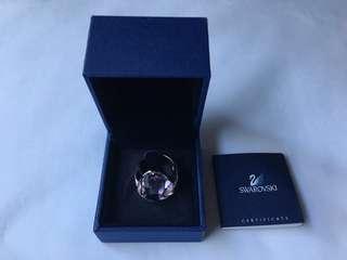 Swarovski Genuine Helios Rosaline Moonlight Ring Sz: 52/M
