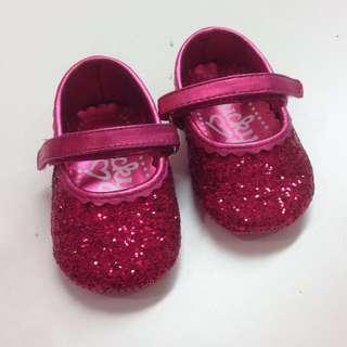 lucky sole fuchsia baby shoes 桃紅色 bb 鞋