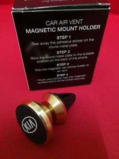 Car Air Vent Magnetic Mount Holder Kia Gold Colour
