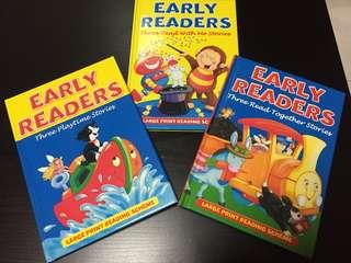 Early Readers' large print story books