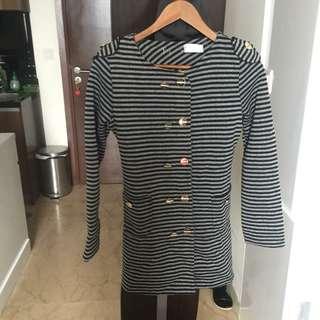 Coat stripe black