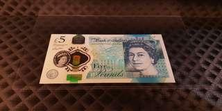 AD25 888777 England 2015 £5 Lucky Number GEM UNC Condition