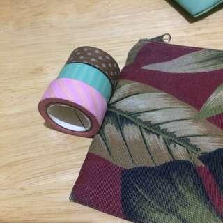 Stationery bundle (small pouch and washi tapes)