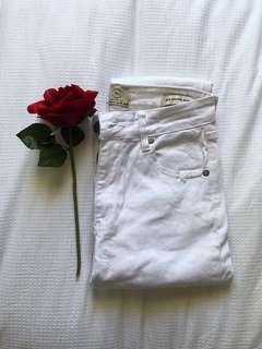 Mid grazer ripped denim jeans