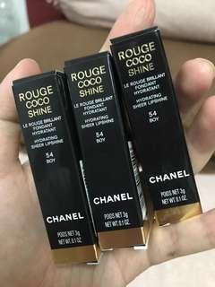 Chanel rounge coco shine lipstick shade 54 boy