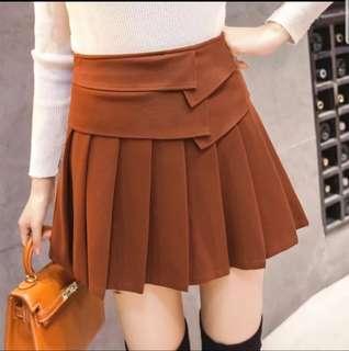 Brown color high waist skirt
