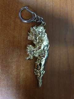 Son Goku Kamehameha Gold Keychain