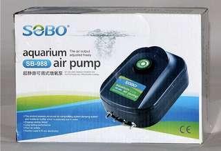 $23 Sobo SB-988 Aquarium Air Pump