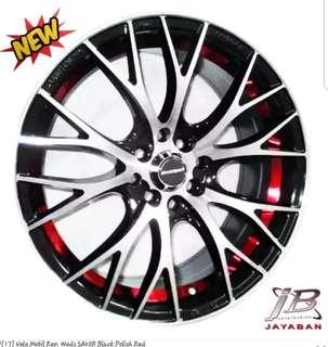 VELG MOBIL REP. WEDS SA20R BLACK POLISH RED Kredit instan
