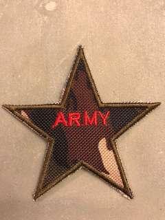 星形ARMY刺繡熨章