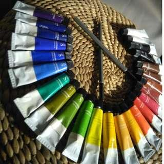 WHSmith Watercolour Paints 12 ml (Pack of 24)