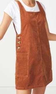 Pinafore denim dress