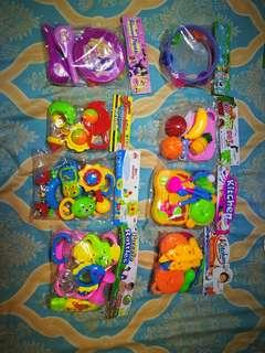 Toys, cooking, music, baby toys, $2-$5