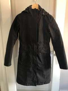 The North Face 3-way long black jacket size XS