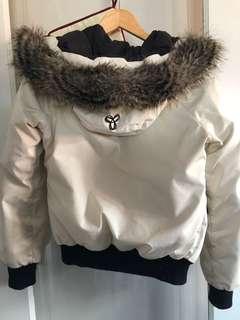 White TNA bomber jacket size xxs