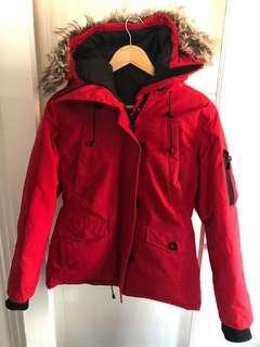 Women's red parka size S