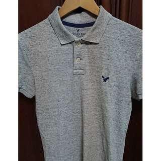 🚚 American Eagle Polo衫 灰底刷紋 男XS & MUJI 無印良品 男有機棉水洗平織布襯衫 深藍色 男S