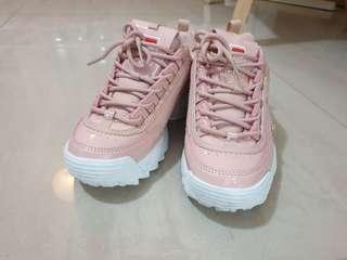 AUTHENTIC Sakura Pink Fila Disruptor Sneakers