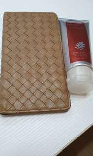 Bottega Veneta 真品BV小皮夾,駝色