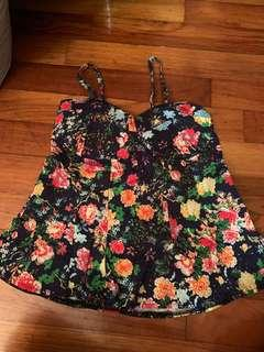Floral bustier top