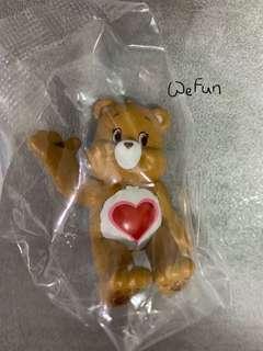 Care bear Putitto 啡色 Tenderheart Bear 杯緣子 模型 玩具
