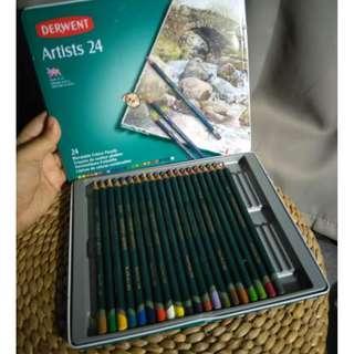 Derwent Artists Pencils 24 Tin