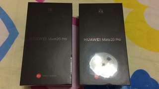 (SOLD VIA PRE-ORDER)2 HUAWEI MATE 20 PRO (BLACK and TWILIGHT)