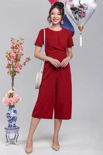 09913770fd6 Lila Twist Cross Jumpsuit in Wine - Size L BNIB