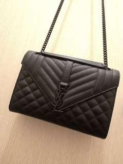 *price reduced!* YSL Black Sling Bag (Monogram Leather)