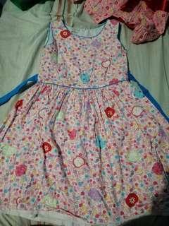 Floral Pattern Girls Dress