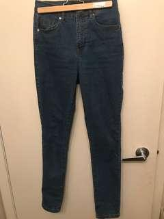 F21 Medium Wash High Waisted Jeans